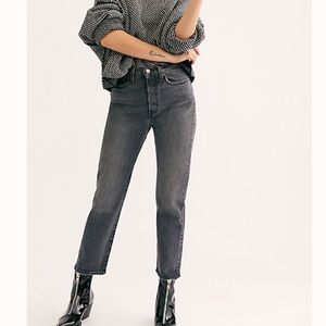 NWT Free People Levi's Wedgie Straight Jeans 28